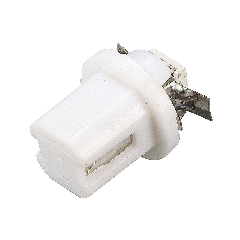 10PCS/SET White T5 Car Dashboard Light B8.5D 5050 1 SMD LED Auto Dash Gauge Instrument Lamp Bulb 12V DC