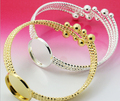new arrvial  5pcs/lot   20mm cabochon pad bracelet for diy glass bottle accessories jewelry findings--silver&gold option