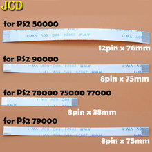 JCD 2pcs 7pin 8pin 12pin Ribbon Flex Cable for Sony playstation 2 PS2 Controller Charging PCB Board and Power switch Flex Cable for playstation 4 ps4 console dvd disk drive laser lens ribbon flex cable pulled w 4pin power cable