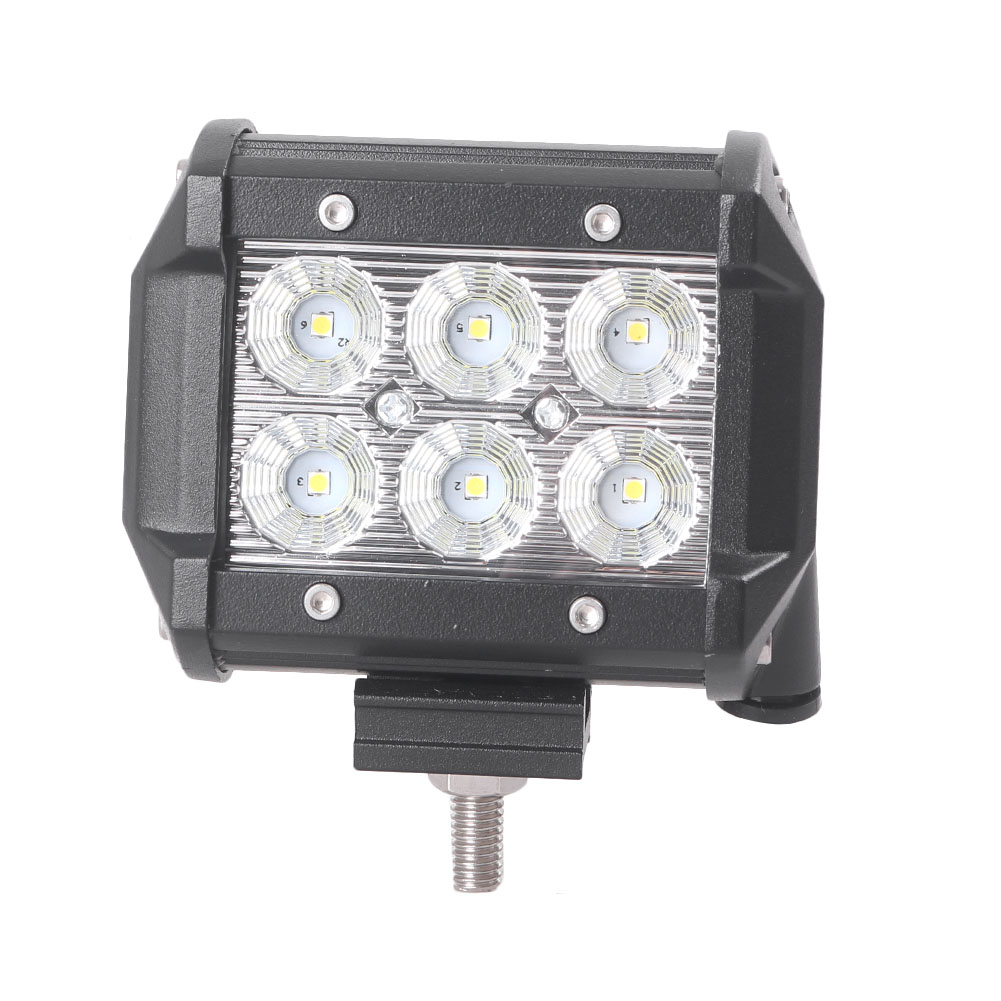 Auto Car LED Work Light Universal for Truck Off-road SUV Flood Beam 6000K 18W IP67