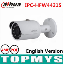 Dahua 4MP POE IP camera English version CCTV security ip camera IR 30M 1080P full HD smart IR bullet camera IPC-HFW4421S