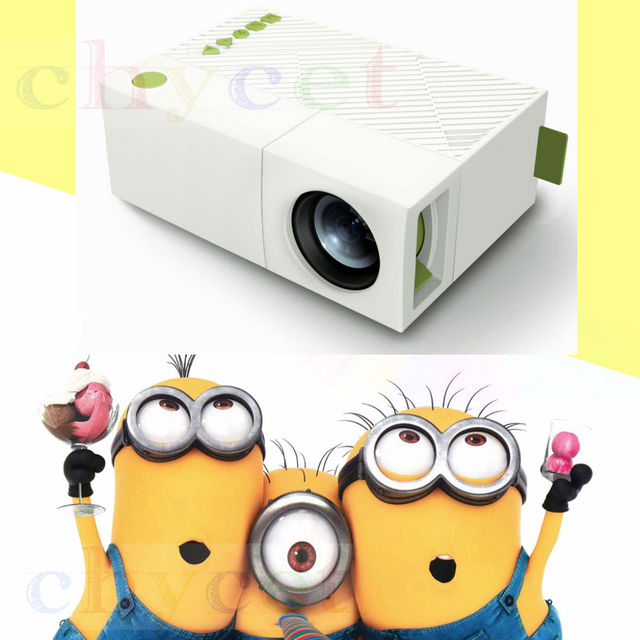 YG300 YG310 Projector Portable LCD 600LM 3.5mm Audio 320x240 Pixels YG-300 HDMI USB Mini Projetor Home Theater Media Player