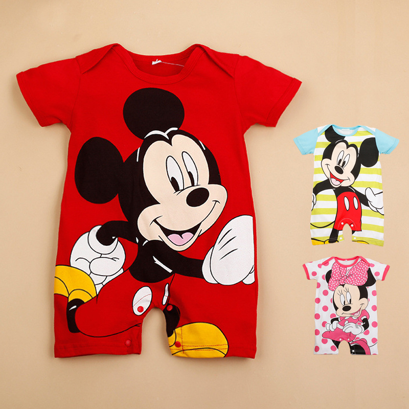 Baby Boys Rompers Cartoon Short Sleeve Infant Jumpsuits Summer Baby Girls Clothing Sets Newborn Baby Clothes for 4-18 Month newest 2016 summer baby rompers clothing short sleeve 100