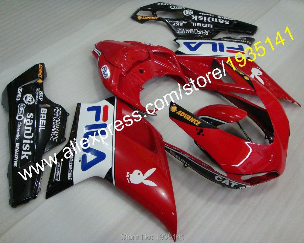 Горячие продаж,мотоцикл обтекатель для Ducati 848 1098 2007 08 09 10 11 Год 1098S 1198 полный комплект кузова Обтекателя (литье под давлением)