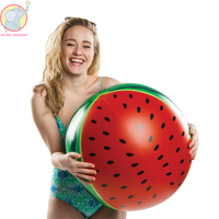 New Inflatable watermelon beach ball summer popular party supplies Swimming Ring water toys pool float adults and children