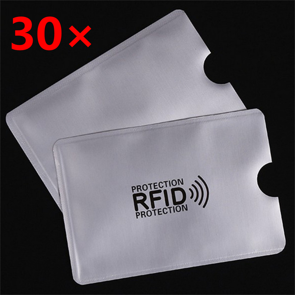 30 pcs/set Credit Card Protector Sleeves RFID 13.56mhz IC card Protection NFC Shielded Card Sleeve Prevent unauthorized scanning nfc shielded sleeve rfid cardblocking 13 56mhz ic card protection nfc security card prevent unauthorized scanning