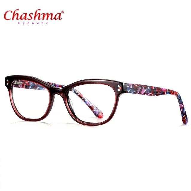 9d784eed25331 CHASHMA Marca Óculos de Acetato de armações De Óculos De Grife das Mulheres  Masculino oculos de