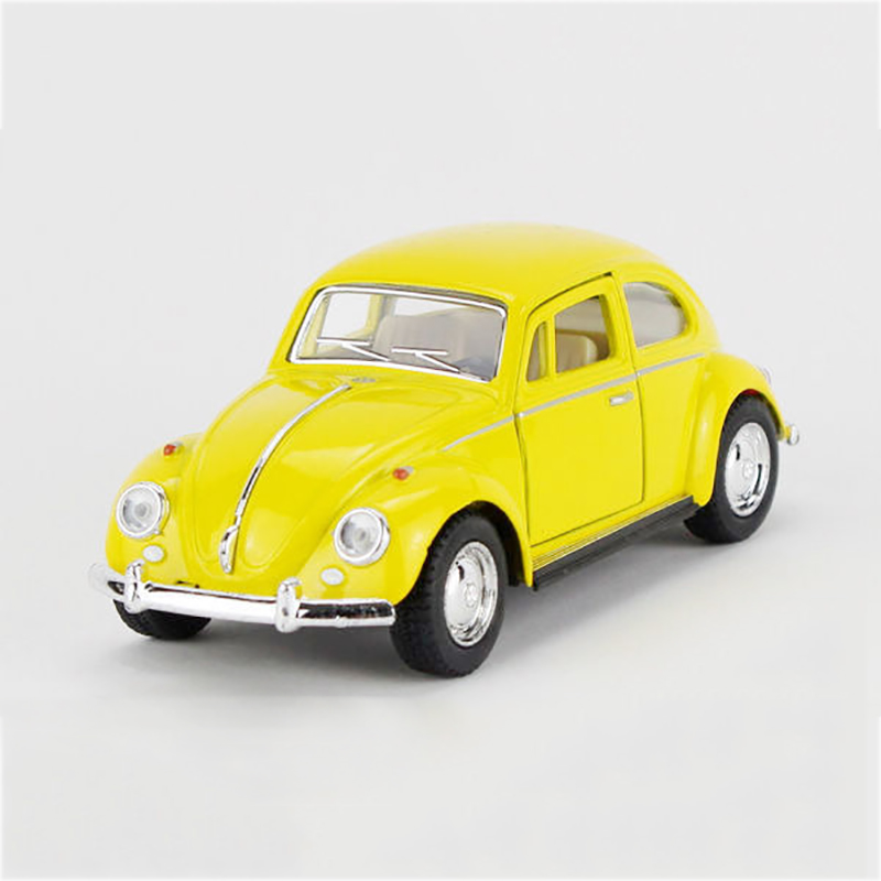Volkswagen Beetle Ratings >> 1967 VW Beetle Yellow type1 1/32 alloy model car T1 Diecast Metal Pull Back Car Toy For Gift ...