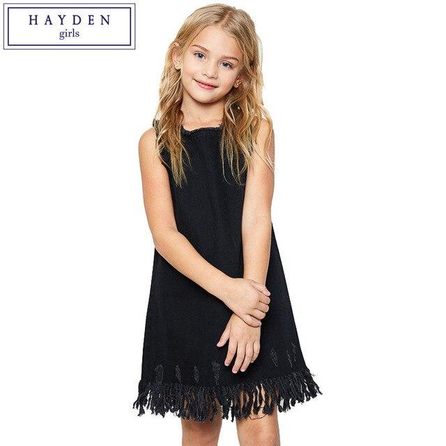 710c40ee3 HAYDEN Fashion Teenage Girl Summer Dresses Denim Sundresses for ...