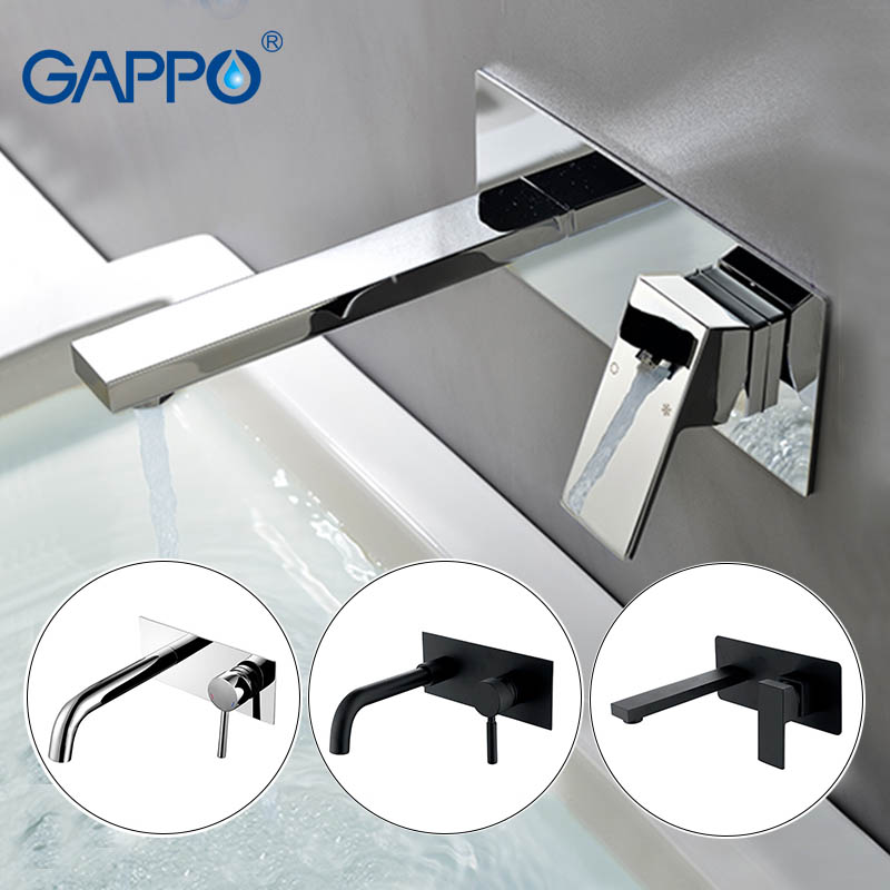 GAPPO basin faucet bathroom bath faucet waterfall sink taps wall mounted Water mixer shower mixers tap Sanitary Ware Suite
