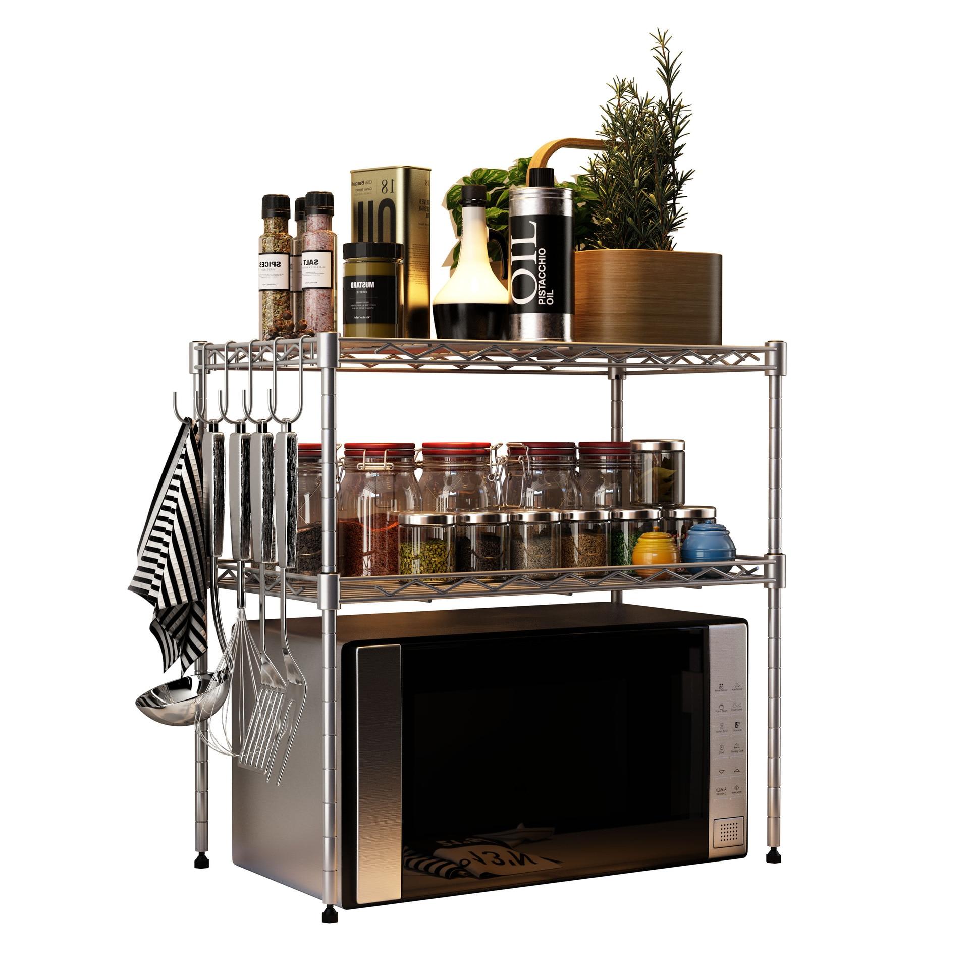 3 Tier Shlef Rack Office Shelving Kitchen Microwave Oven Storage Organizer