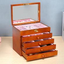купить High quality wood Wooden jewelry accessories storage organizer box case casket wedding Mother birthday gift boxes