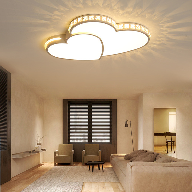 Kristal Modern Led tavan ışıkları oturma odası yatak odası için lamparas de techo colgante moderna avize kristal tavan lambası fikstür