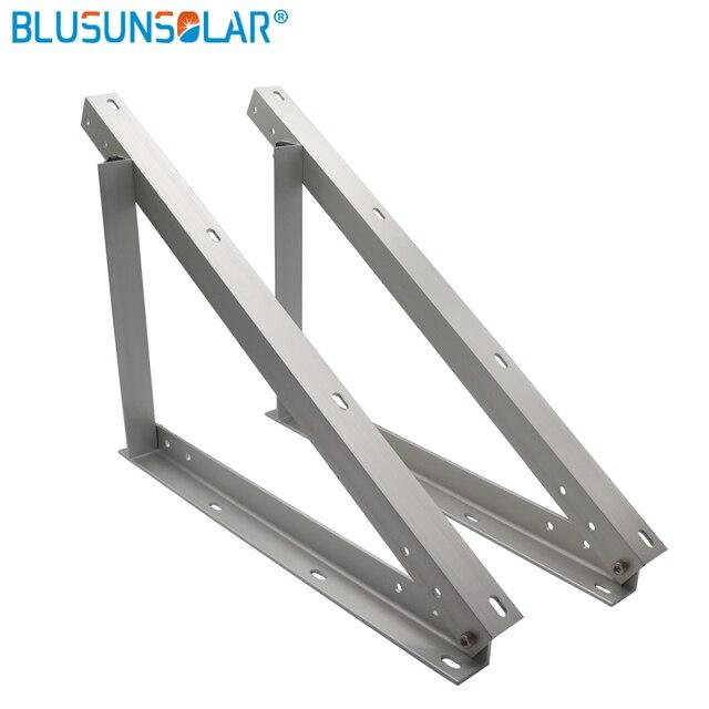 Adjustable Assembled Solar Panel Mount Mounting Brackets Folding Tilt Legs,  Boat, RV, Roof Off Grid (22-inch Length)