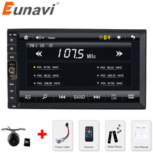 Eunavi 2 DIN Car radio / GPS / MP3 / mp5 / usb / sd / player Bluetooth Handsfree Rearview after Touch screen system Free Camera