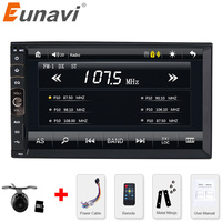 2 DIN Car DVD GPS CD MP3 Mp5 Usb Sd Player Bluetooth Handsfree Rearview After Touch