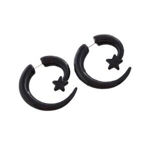 Поддельные Приборы JUNLOWPY, 1 шт., 16 г, Поддельные Приборы в виде спирали, акриловые затычки для ушей, рожковые Серьги-пусеты, искусственные пробки для пирсинга