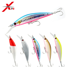 цена на XTS Fishing Lures Jerkbait Minnow Bait 90mm Artificial Hard Bait Five Colors Minnow Wobblers Plastic Lip Hard Minnow Baits 3529