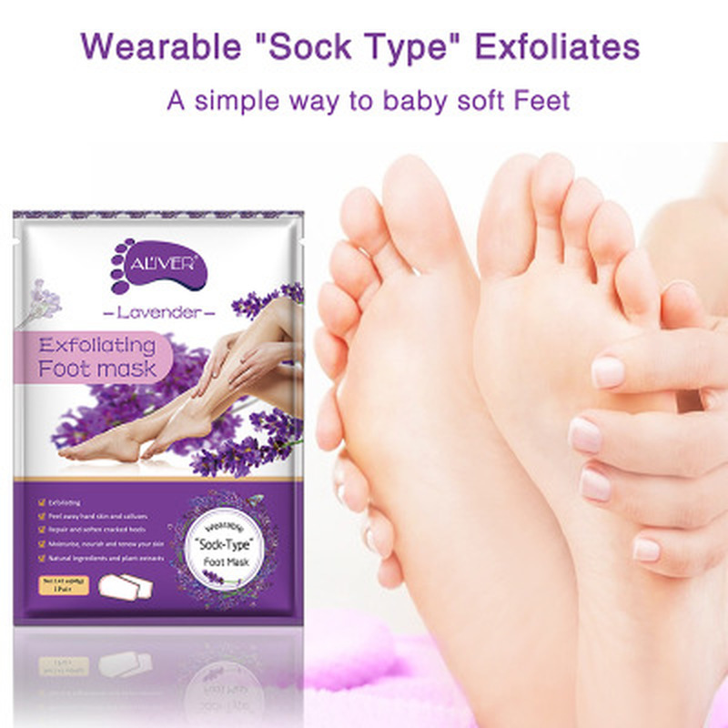 2Pcs/Bag Moisture Foot Mask Feet Cream For Dead Skin Removal Foot Care Tool Removing Dead Skin Exfoliator Whitening Foot Care