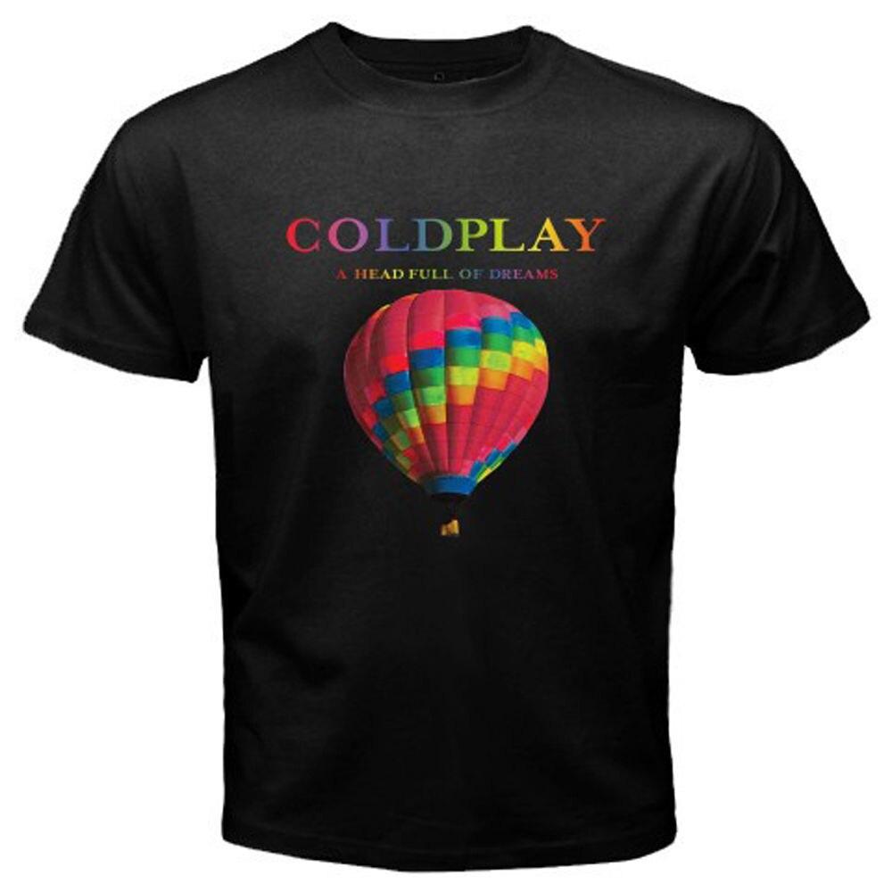 Uomini E Donna T Shirt Coldplay-Una Testa Piena Di Sogni Tour 100% Cotone Gildan T Shirt