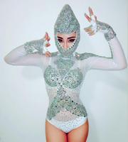 3 цвета кристаллы, стразы головной убор трико костюм женские боди вечерние шоу ночной клуб бар женские для певицы для сцены Одежда для танце