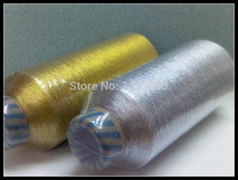 Silver Metallic Embroidery Thread 150m