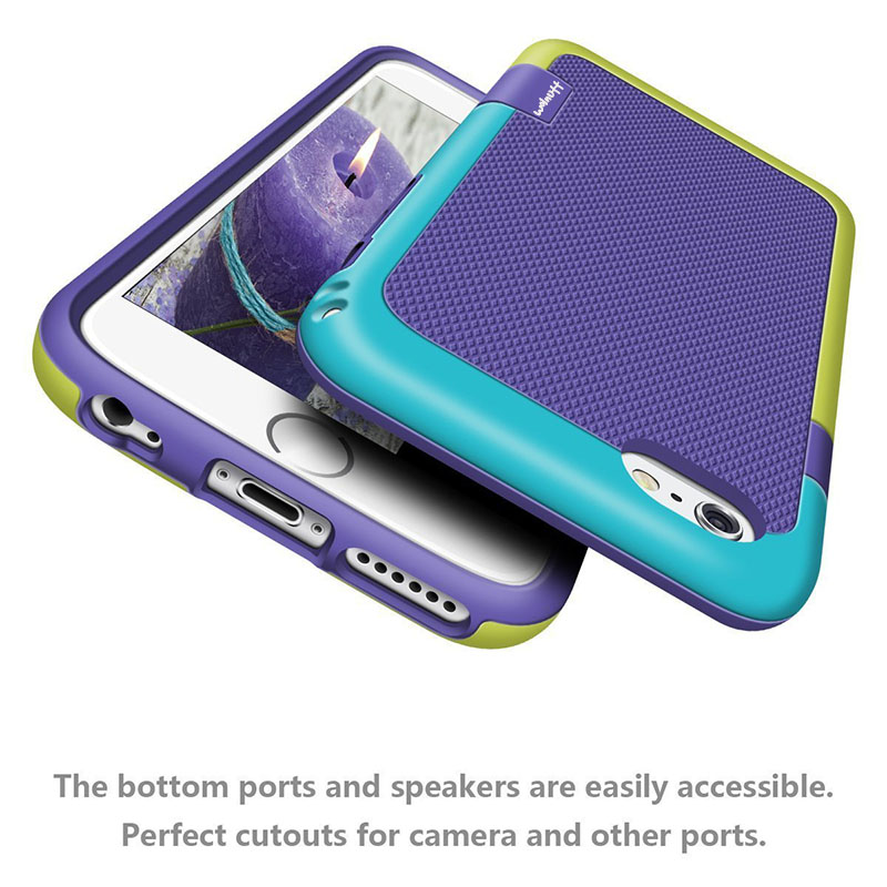 premium selection f8f2e dc6ed US $2.03 18% OFF|Hybrid Anti Slip Candy Color Case for iPhone X 7 8 6s Plus  Phone Cases Soft Silicone Hard PC TPU Shockproof Rugged Impact Case -in ...