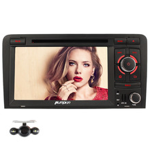 Pumpkin Quad Core Android 5.1 Car DVD Player  for Audi A3 Car stereo GPS DAB+ 1080P Screen Mirroring & OBD2+ Camera