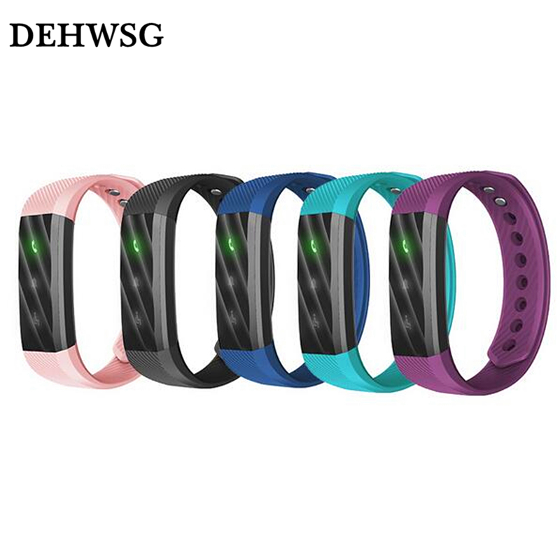 DEHWSG Hot ID115 Lite Smart Bracelet Fitness Tracker Step Counter Activity Monitor Band Alarm Clock Vibration Wristband pk id107