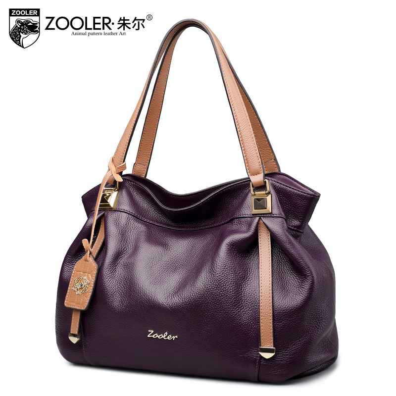 ZOOLER 2017 NEW leather tote genuine leather bag handbag famous brand top handle bolsa feminina luxury top handle woman bag#8121 sales zooler brand genuine leather bag shoulder bags handbag luxury top women bag trapeze 2018 new bolsa feminina b115