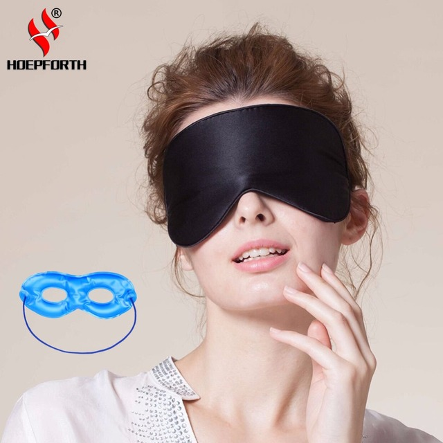 0764c51f34a Natural Silk Sleep Mask Blindfold Super Smooth Eye Mask Sleeping Face Mask  With Hollow Ice Pack