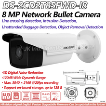 Hikvision DS-2CD2T85FWD-I8 8MP Network Bullet IP Camera Outdoor POE SD card 80m IR H265 CMOS DC12V Face Detection ONVIF Infrared(China)