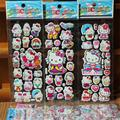 5pcs/lot Bubble Stickers 3D Cartoon Hello Kitty Animals Cat Classic Toys Scrapbook For Kids Children Gift Reward Sticker