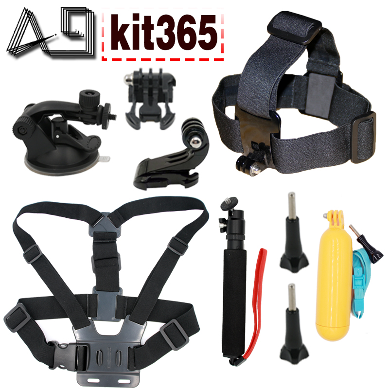 A9 for Gopro accessories set mount for gopro hero 5 hero 4 3+ sony action cam Eken h9 xiaomi yi 4K SJCAM camera floating selfie