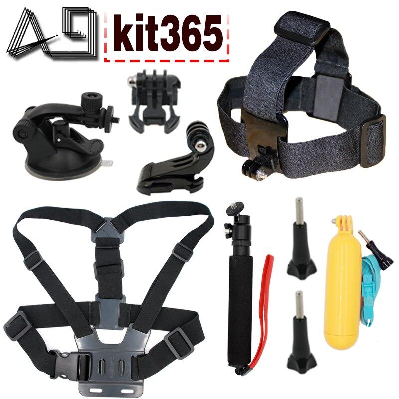 A9 pour Gopro accessoires mount set pour gopro hero 5 hero 4 3 + sony action cam Eken h9 xiaomi yi 4 K SJCAM caméra flottant selfie