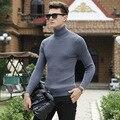 Alta Qualidade de Inverno Sweater Homens Malhas Pulôver Gola Fina Roupas masculinas da Marca Camisolas Listrado Fino Masculino Camisola Puxar