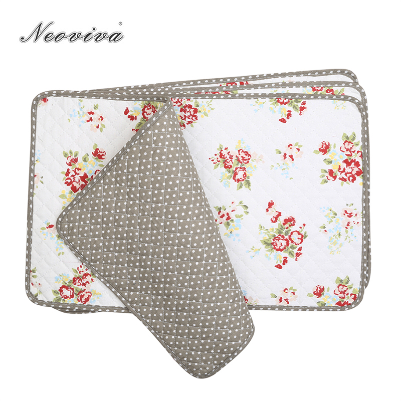 Dining Room Table Placemats: Neoviva Cotton Fabric Quilting Placemats For Dining Room