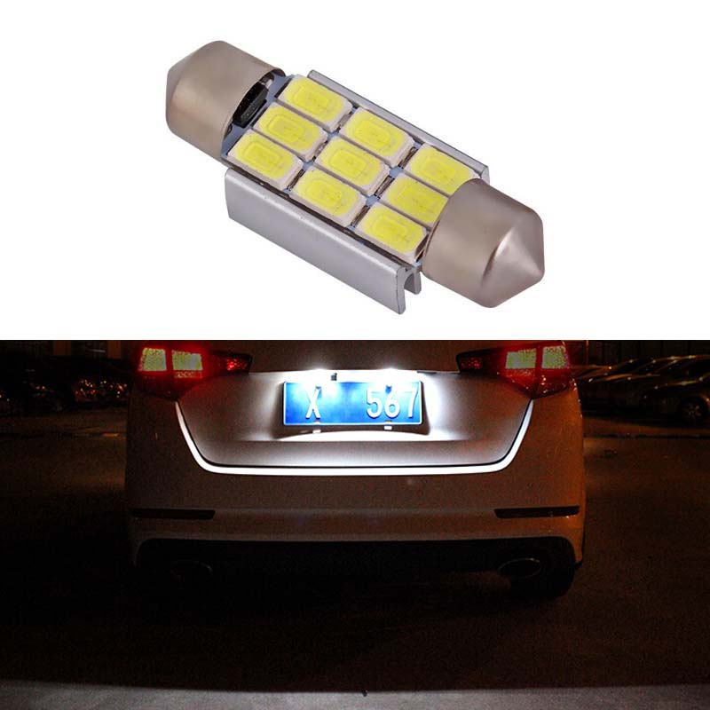 A6 A8 Q3,Q7 A4,A5 2 CREE Festoon White Number Plate Light Bulbs 36mm Audi A3