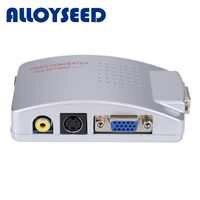 Universal NTSC PAL VGA a TV AV RCA adaptador de señal convertidor Video Switch Box compuesto para ordenador portátil