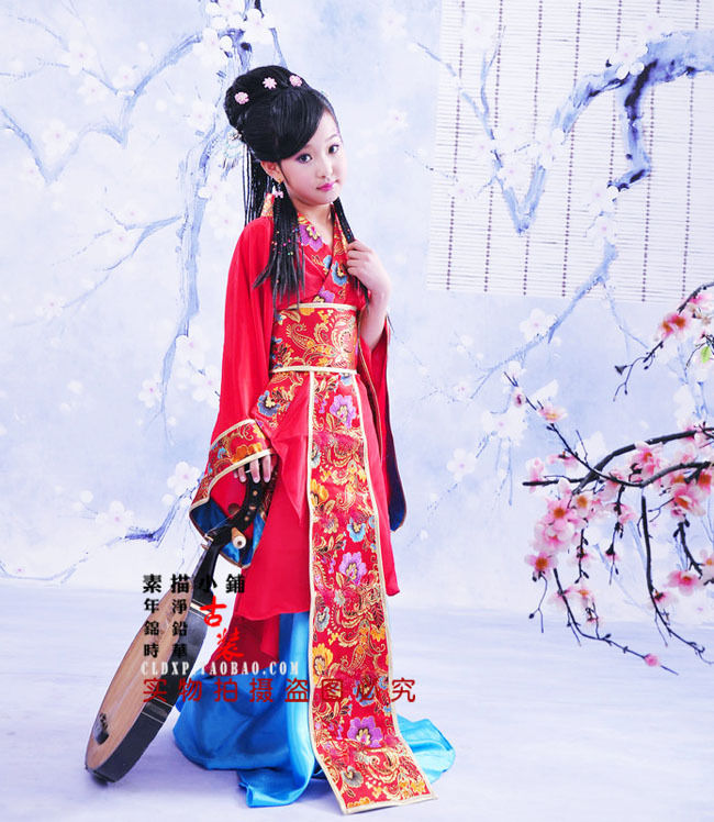 Ancient Chinese Grande Beauté Wang Zhao Juin Petite Fille Rouge