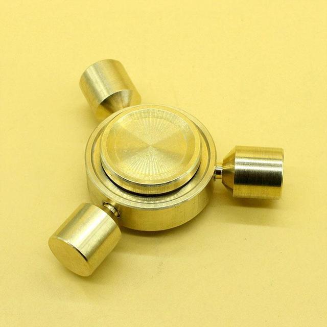 Yellow Bronze Fidget Spinner EDC Hand Spinner Stainless Steel Custom Fidget Toys