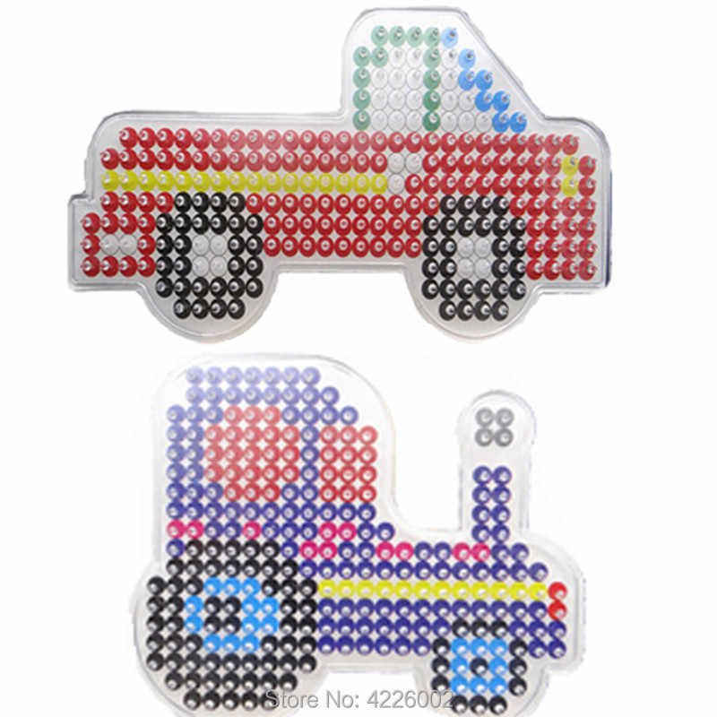 20pcs Pegboard Patterns For Diy Hama Beads 5mm Jigsaw Tool Handmade Perler Fuse Beads Board Puzzles Template Kids Crafts Toys