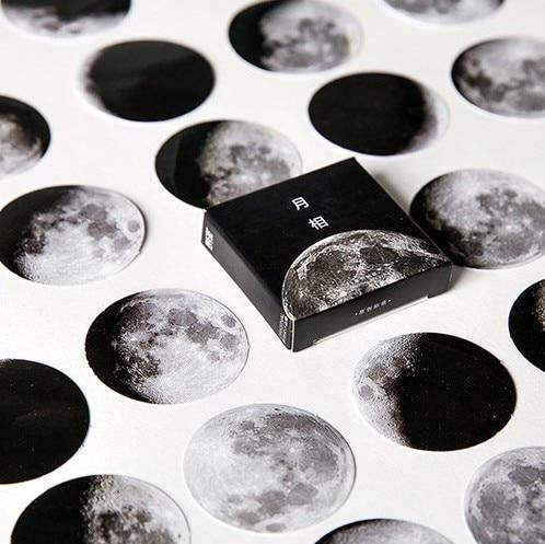 45 st / Box Moon Foton Mini Paper Seal Sticker Skrapbook Notebook - Block och anteckningsböcker - Foto 5