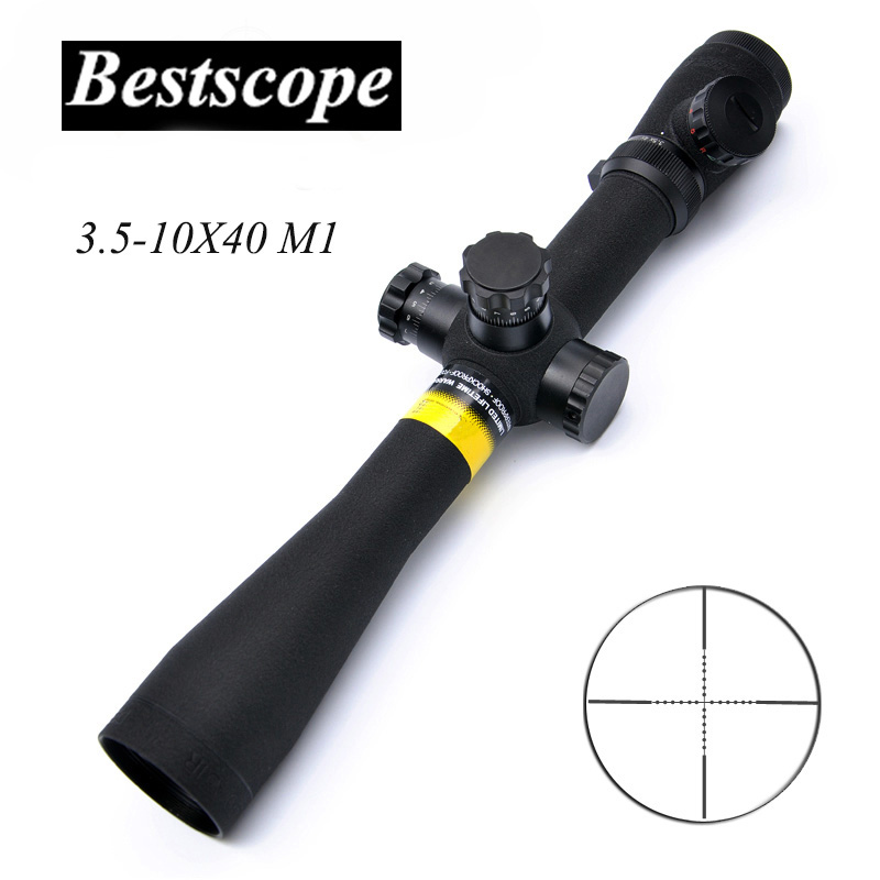 Tactical 3.5-10X40 M1 Long Eye Relief Rifle Scope Tactical Optical Scope Side Parallax Focus Adjust Hunting Scopes Sniper new arrival and hot sale tactical vt 2 4 16x50mm ir side focus rifle scope for hunting bwr 140