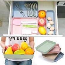 1 unidad de plástico cajón de cocina bandeja de almacenamiento organizador Material Degradable divisor de Almacenamiento Herramientas de cocina Almacenamiento de comestibles