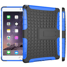For iPad Air 2 Case Cowl Armor Shockproof Heavy Obligation Silicon PC Stand For Apple iPad air2 iPad6 9.7″ Pill PC Protecting Cowl