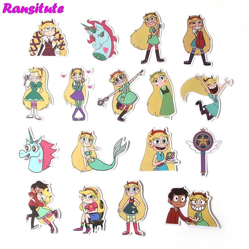 17Pcs/set Cartoon Cute Waterproof Phone Decoration Stationery Sticker Scrapbooking  Diary Album Toy Sticker R396