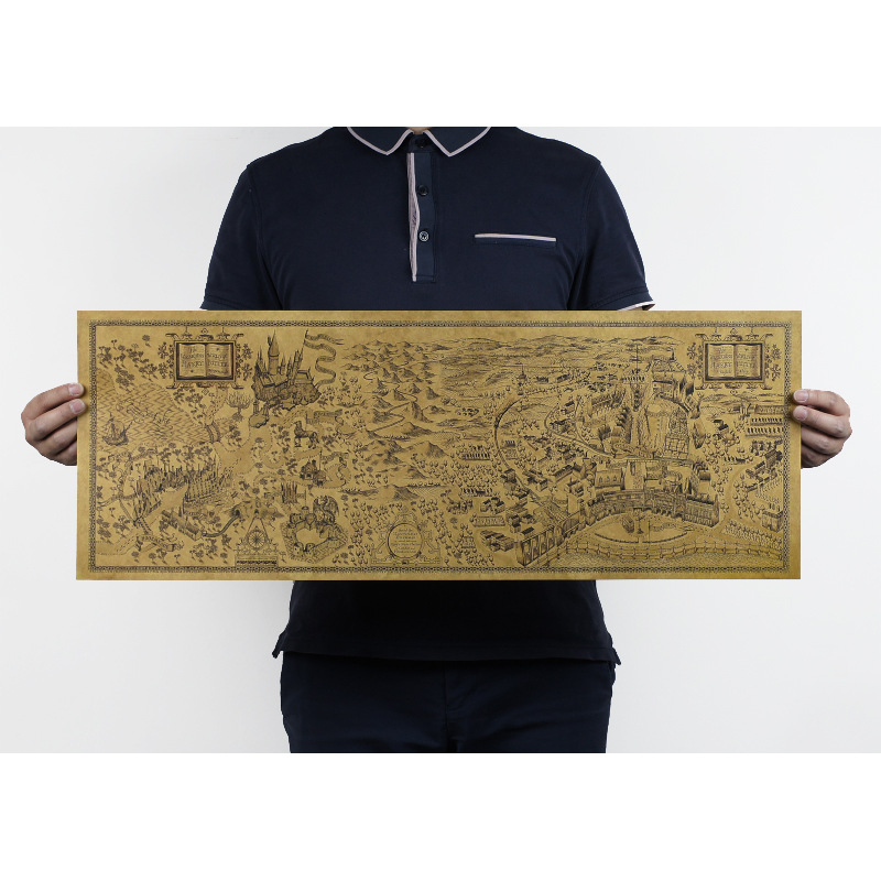 The wizarding world of harry potter map width Kraft paper posters 72 ...