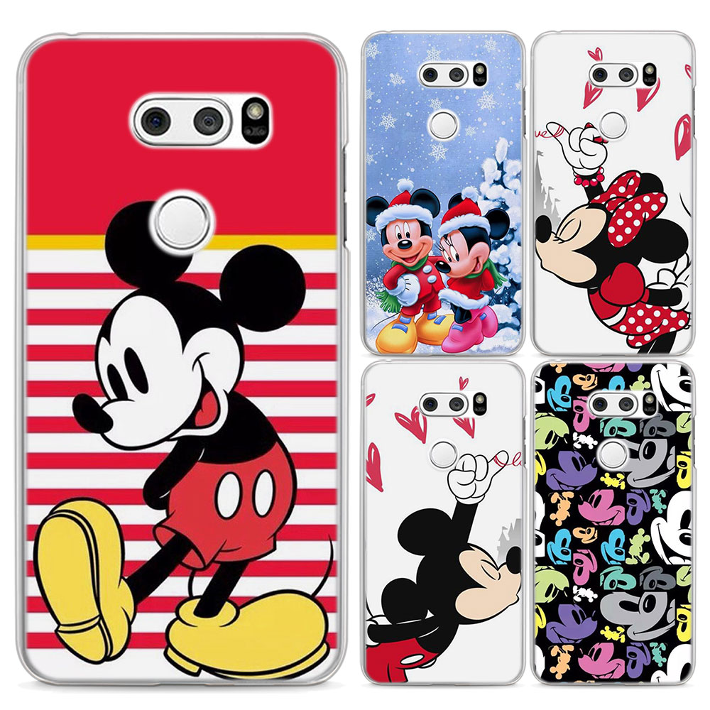 for LG G6 case Minnie Mouse Style clear frame hard back Case cover for LG G3 G4 G5 G6 Q6(G6 Mini) V10 V20 V30