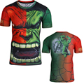 angry hulk tights with short sleeves 3D stereo pattern tops quick dry tshirt men O-neck summer style fashion tops